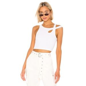 NWT Lovers + Friends Cassidy Top in White